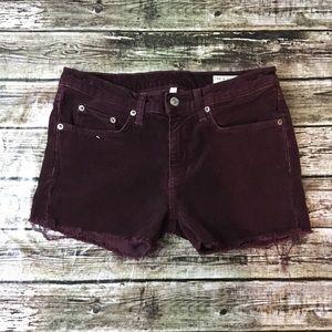 Rag & Bone Skinny Cutoff Corduroy Shorts